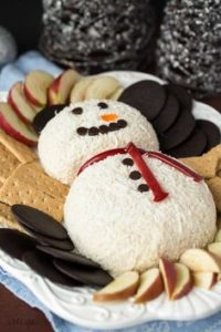 chocolate toffee cheese snowman